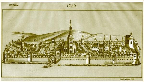 Cluj-Napoca_at_1759_(by_Janos_Szakal)