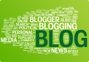 Blog word cloud illustration. Graphic tag collection